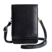 MINICAT Touch Screen Design Premium Microfiber Leather Crossbody Cell Phone Wallet Purse