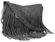 Ayliss® Hippie Suede Fringe Tassel Messenger Bag Women Hobo Shoulder Bags Crossbody Handbag 4Colors
