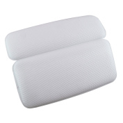 Bathtub Pillow, Halovie Bathtub Pillow with Strong Large Suction Cups Spa Bath Pillow Memory Foam Pillow for Neck Waterproof Bath Pillow