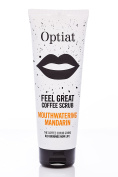 "Optiat ""Feel Great"" Mouthwatering Mandarin Exfoliating Coffee Scrub (220g) - Natural, Sustainable, Vegan, Cruelty-Free - Skincare Treatment - Acne, Eczema, Cellulite, Stretch Marks, Ingrown Hairs - Suitable for Body & Face - Made from Used Arabica Coff .."
