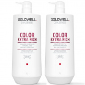 Goldwell Dualsenses Colour Extra Rich Brilliance Shampoo 1000ml & Conditioner 1000ml
