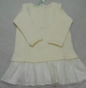 BABY GIRL CLOTHES BENETTON JERSEY DRESS OFFWHITE 9-12 MONTHS RRP £22.99 BNWT