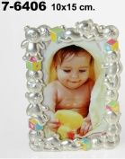 DonRegaloWeb - Photo Frame Children's Metal Decorated with Bears and Balls in Matte and Colours 10 x 15 cm