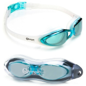 Olympic Nation Crystal Clear Comfortable Swimming Goggles with Anti-Fog Lenses, Ultra-High Quality Swim Goggle for Adult Children Men Women And Kids - Swim Like A Pro