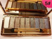 JGB 9 Colours Diamond Bright Colourful Makeup Eye Shadow Palette Set Flash Glitter Eyeshadow with Brush,Edition 5