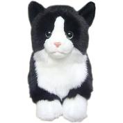 Black & White Cat Soft Toy 30cm