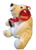 Coca-Cola Polar Bear with Red Collar Beanie Plush