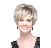 Tonake Stylish New Blonde Short Straight Hair Wig Heat Resistant for Women Lady