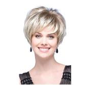 Tonake Stylish New Blonde Short Straight Hair Wig Heat Resistant for Women Lady