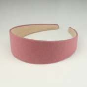 "Annielov 40mm (1 1/2"") Plastic headband covered with cotton linen fabric Wide Headbands Hair accessories headband Alice band #2289 Pink"