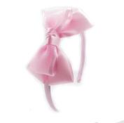 PrettyBoutique 10cm Girls Sheer Satin Ribbon Bow Alice Headband