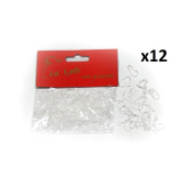1st Lady - Thin Silicon Rubber Hair Bands Colour Clear Transparent - 3000pc (1 Dozen) #580