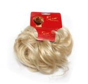 Ponuholder #613 Scrunchy Scrunchie Bun Updo Hairpiece Hair Ribbon Ponytail Extensions Curly Bleach Blonde