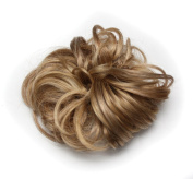 Ponyholder #613m16 Scrunchy Scrunchie Bun Updo Hairpiece Hair Ribbon Ponytail Extensions Curly Ash Blonde & BleachBlonde