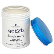Got2B Schwarzkopf Beach Matt Surfer Look Paste 6 X 100 Ml = 600 Ml