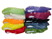 Three Little Imps Minky Range Colour Cloth Nappies (inc inserts) - Set of 10