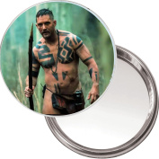 Unique Button Mirror with a picture of Tom Hardy from the BBC series Taboo
