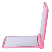iLory Portable Folding Cosmetic Mirror with 8 Bright LED Lights,Ultra-thin Compact Travel Pocket Makeup Mirror