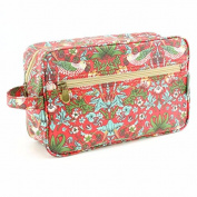 Lesser and Pavey Strawberry Thief Oil Cloth Wash Bag