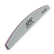 Always Perfect Nails Grey Nail Buffer with Pink Sponge 100 | 180 Grit