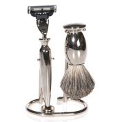 '3-Piece Shaving Set Silver ""