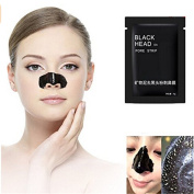 Lalang 10Pcs Mineral Mud Nose Blackhead Remover Face Facial Black Mask Pore Acne Treatments Mask Cleaner