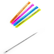 Lalang 2Pcs Stainless Steel Blackhead Remover Cleaner Tool Acne Pimple Spot Extractor Pin, Colour Send at Random