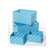 Storage Baskets - Blue Turquoise - Pack of 4 Storage Baskets