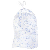 JoJo Maman Bebe Elephant Printed Blue Chiffon With The Bag XL