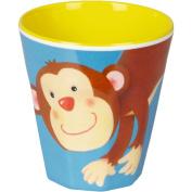 """Cup Melamin blue """"Freche Rasselbande"""" monkey"""