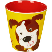 "Cup Melamin yellow ""Freche Rasselbande"" dog"