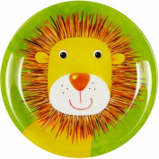 "Plate Melamin green ""Freche Rasselbande"" lion"