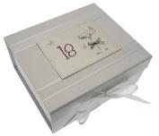 18th Birthday, Small Keepsake Box, Coupé Glass