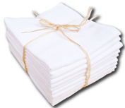Muslin Nappies/Spitting Cloth - Can be washed at up to 90°C - Pack of 10 - 70 x 80 cm - White