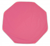 Looping BTPO Polyvinyl Chloride (PVC) Octagon Playpen Mat with Fastening Ringholes - Mat Dimensions 108 x 108 cm - Raspberry