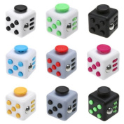 SHLA Fidget Release Rubik's Cube Desk Toy Anxiety Stress Relief for Children and Adults  .   Zipper Case