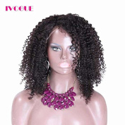iVogue Hair Free Part Lace Front Wig Human Hair for Black Women Mongolian Kinky Curly Human Hair Lace Wigs 36cm -46cm 130Density
