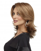 AmorWig Fashion Ash Blonde Fluffy Shoulder Length Hair Wig for Women Heat Resistant
