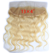 Dreambeauty 13×10cm Full Lace Frontal Closure 130% Density Body Wave Free Part Brazilian Virgin Human Hair Full Lace Closure Bleached Knots with Baby Hair #613 Blonde Colour