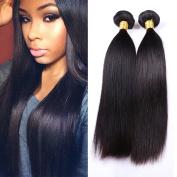 IUEENLY Hair 7A Grade Unprocessed Brazilian Virgin Hair Straight 100% Human Hair Weave Bundles Natural Colour Hair Total 400G