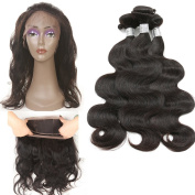8A Remy Malaysian Virgin Hair Body Wave 4 Bundles 360 Lace Frontal with Bundle 360 Lace Frontal Pre Plucked Frontal With Bundles