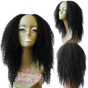 U Part Human Hair Kinky Curly Wigs 7a Grade Brazilian Virgin Hair Wig Natural Colour