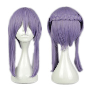 Kadiya Cosplay Wig Puprle Braided Medium Anime Show Halloween Hair