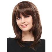 Asifen New Fashion Long Curly with Bangs Wigs for Women Human Hair