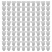 100 Pcs Tattoo Ink Cups Caps Pigment Supplies Plastic by Team-Management