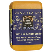 One With Nature Dead Sea Spa Sulphur & Chamomile Mineral Soap 210ml (200 grammes) Bar