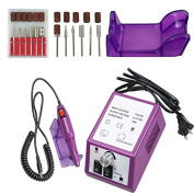 iMeshbean Colourful Professional Electric Acrylic Nail Drill File Bits Manicure Machine Kit USA Seller