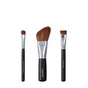 VEGAN LOVE Wet/Dry Shadow Angled Face Brush Trio, Shader