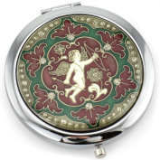 Cupid Gel Inlay - Dual Sided Steel Compact Mirror - Regular & Magnify