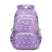 Fanci Students Candy Colour School Bag Lovely Dog Paw Prints Large Capacity Backpack